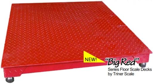 Triner Big Red 4x4 2500 lb. Floor Scale